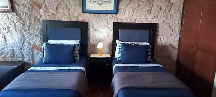 Big room: 2 beds, 1 sofa bed. Near UAG & Andares