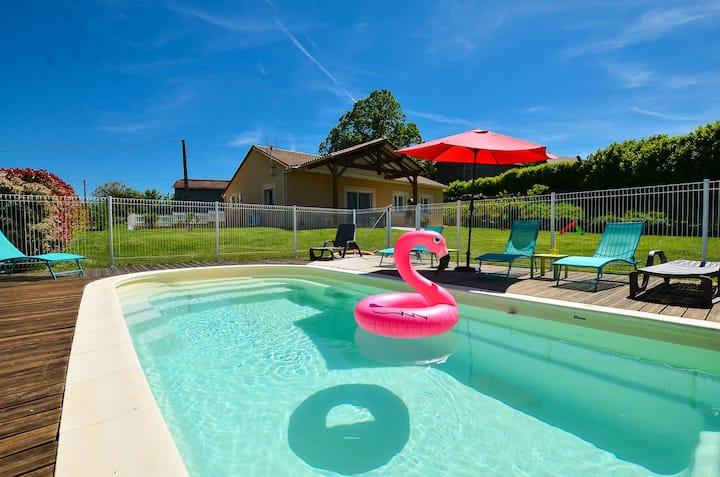 Maison climatisée, avec piscine privée chauffée
