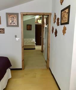 """Doorway from bedroom is 38"""" wide."""