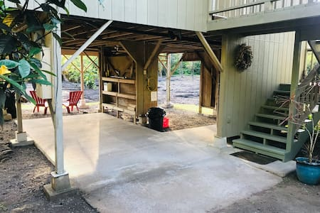 Covered carport entrance