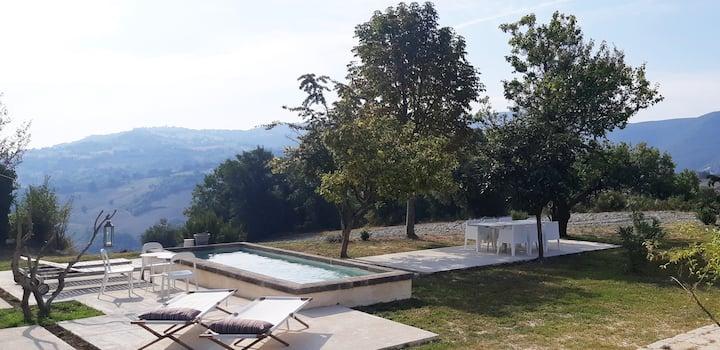 Casa CerKa Designer Stone Farmhouse with Pool