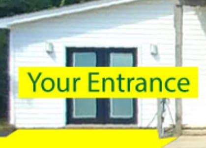 Both doors open for extra wide entrance. There is a small lip to enter.