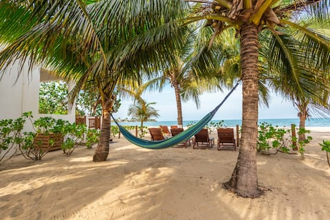 Coconut House: beachfront/gold standard approved!