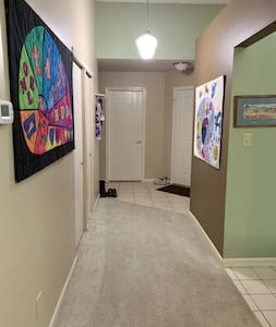 Wide entrance and hallway