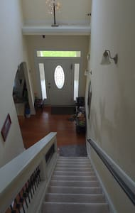 wide entry and stair way