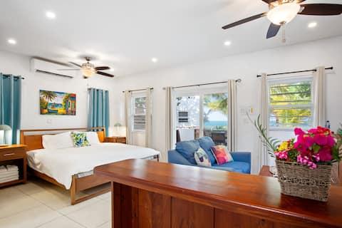 OceanView Bungalow: beachfront/gold standard cert!