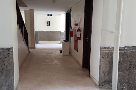 All building has 70 inches pathway for guests enter the lifts or walk by stairs.