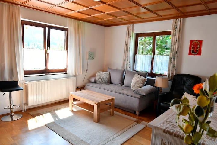 Wohnzimmer mit Schlafcouch 150x200cm