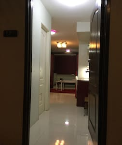 Front door with 35 inches width and flat floor from main door to Bedroom.