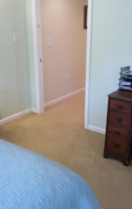 From Master Bedroom (just inside from parking area) looking into hallway that accesses rest of Suite