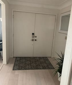 Double doors to enter home