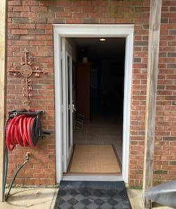 """36"""" door w/no step in to access"""