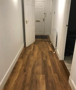 Hallway width is 49.5 inches