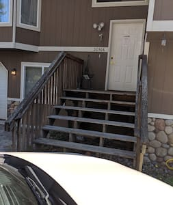 Stairs to front door are wide.