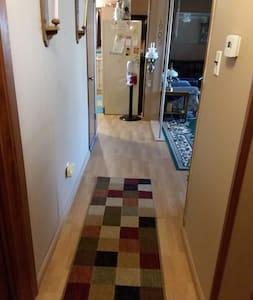 """Hallway is 37"""" wide."""