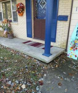 """2 steps from driveway to inside front door.  Each step is approx. 6""""."""