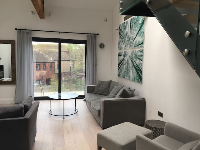 Open Plan Living Area & Balcony