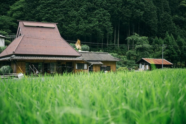 Traditional straw-roofed house. Visit Koyasan