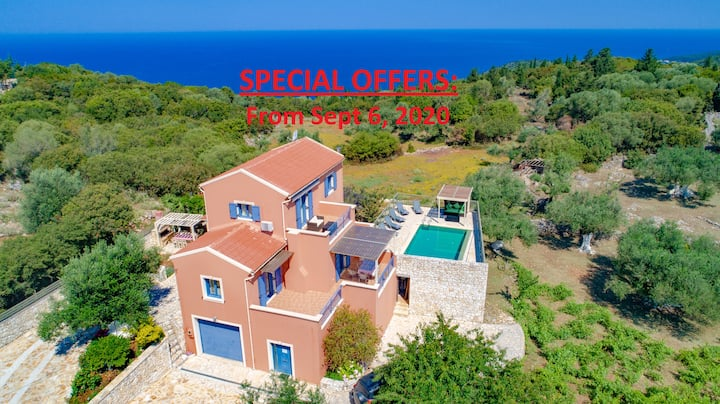 Villa Canova - Private Pool & Sunset Sea Views
