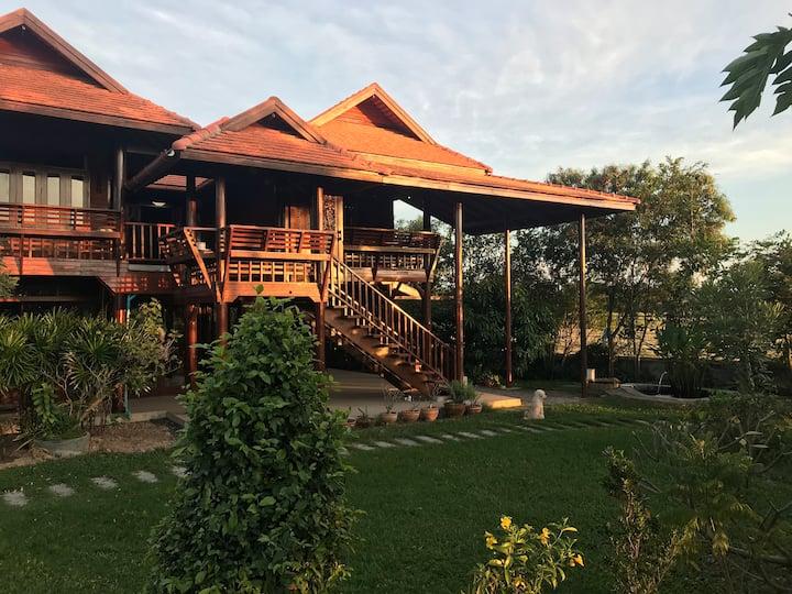 Villa Thaiger: The Thai House at Rice fields