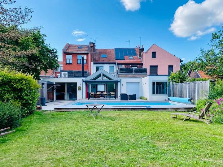 maison lumineuse + jardin Marcq prox Lille