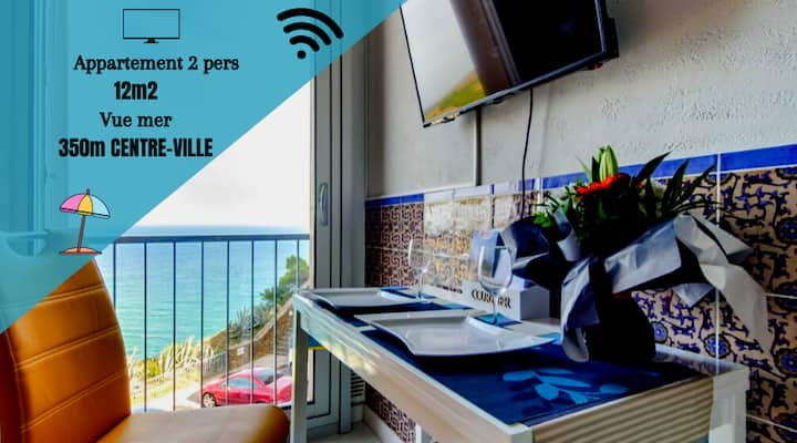 ★ ❤️STUDIO COZY SEAVIEW & VINES + WIFI ★