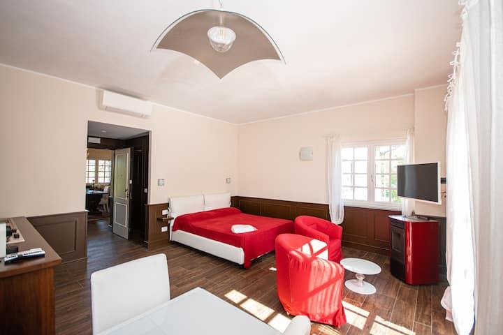 Suite di prestigio open space in villa