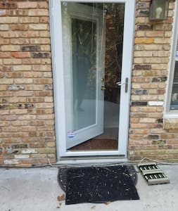 """Two separate doors that are 32"""" wide. Both doors have heavy-duty security glass and individual locks."""
