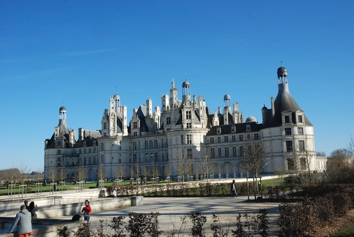 Charm of Loire valley near Blois-Chambord