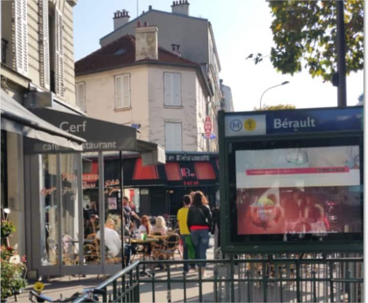Appartement 2 pièces au METRO et RER Vincennes.
