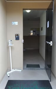 Porta de acesso ao bloco