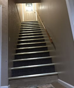 This is the stairway to the Airbnb.
