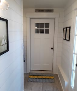 The Mudroom has over 43 inches of width to maneuver.