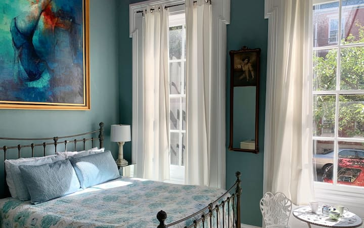 Breezy and Blue, Sunrise, Victorian Queen Bedroom