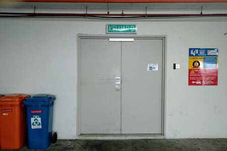 Entrance to lifts from carpark