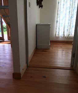 The Floor from the front entrance to the bedroom is quite flat