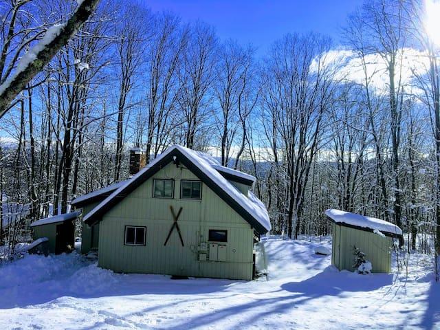 Cozy winter cabin w/ hot tub 10 min to Mt Snow!