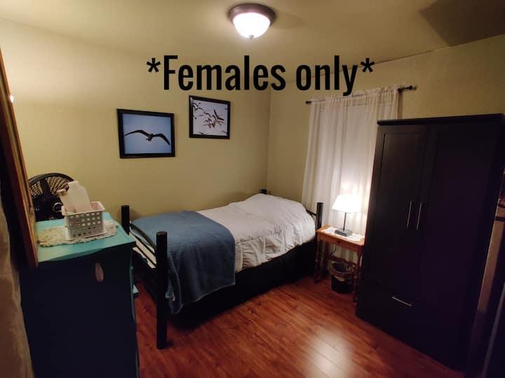 Comfy corner: save money + be safe *Females only*