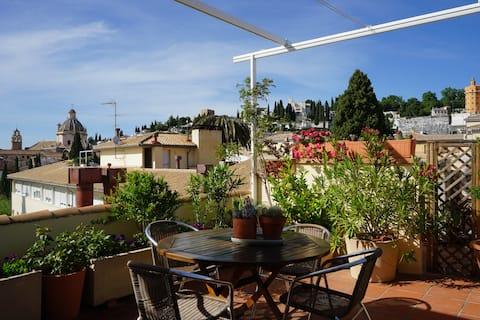 Loft Cuarto Véritable charme  +Parking gratuit+ Terrasse