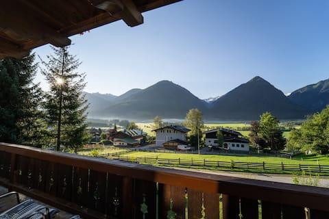 Apartamento com fantásticas vistas para a montanha