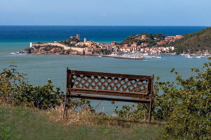 """""""Forte di Talamonaccio""""- giardino con vista mare"""