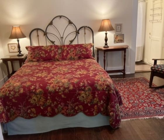Queen bedroom with attached bath & a ceiling fan if you prefer over Central A/H.  Both bedrooms have 4 pillows and blankets in the dressers.