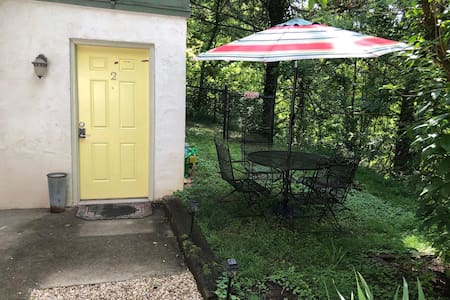 We have solar powered walkway lights, as well as, a motion sensor overhead flood light above the door. Also, we have the standard porch light at the door too.