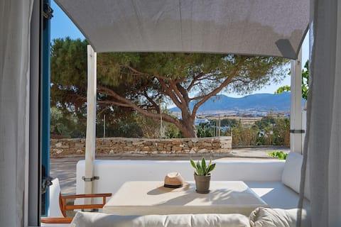 Aura   Maison de 1 chambre avec terrasse et vue sur la montagne