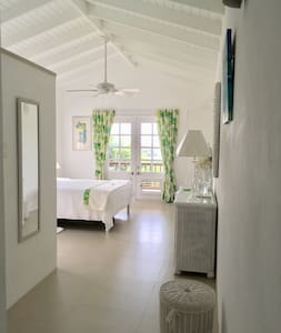 French double doors for private access to the Caribbean Suite.