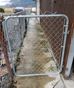 entrance to walkway
