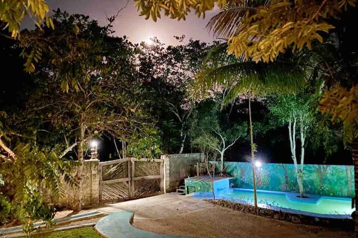 Magical jungle Vila 10 min to Tulum with 2 pools