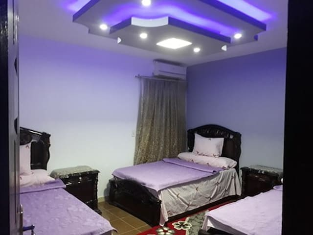 Second Bedroom with 3 Single beds, AC