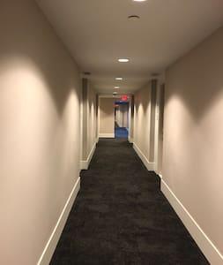 Hallway to the condo
