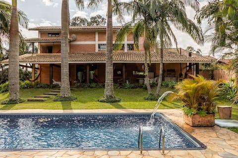Paraíso com piscina (30 min de SP) - CASA VG